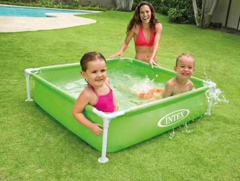 Mini kvadratni bazen 122 x 122 x 30 cm zeleni for Zwembad vierkant intex