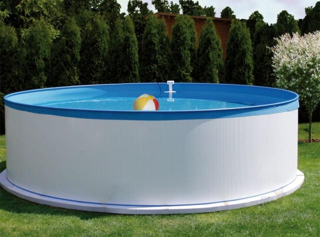 Bazen splasher 350 x 90 cm for Stahlwandpool boden